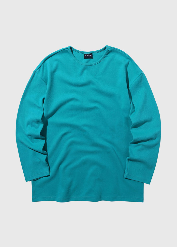 KNIT ROUNDNECK LONG TEE[GREEN]