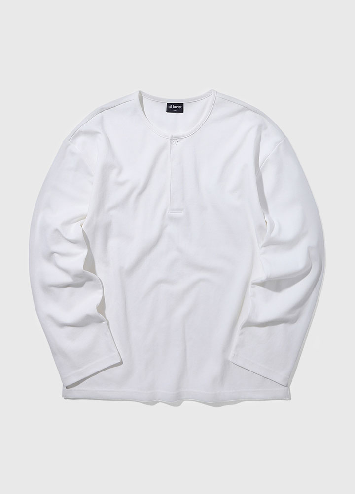 HENLYNECK LONG TEE[WHITE]
