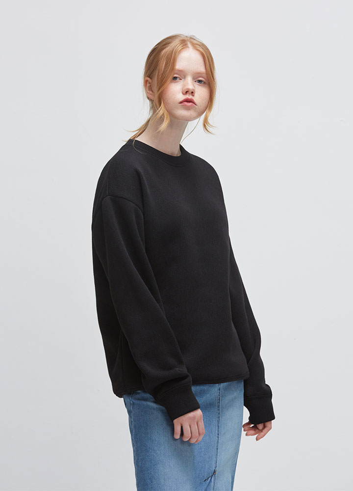 KNIT SWEATSHIRT[BLACK]