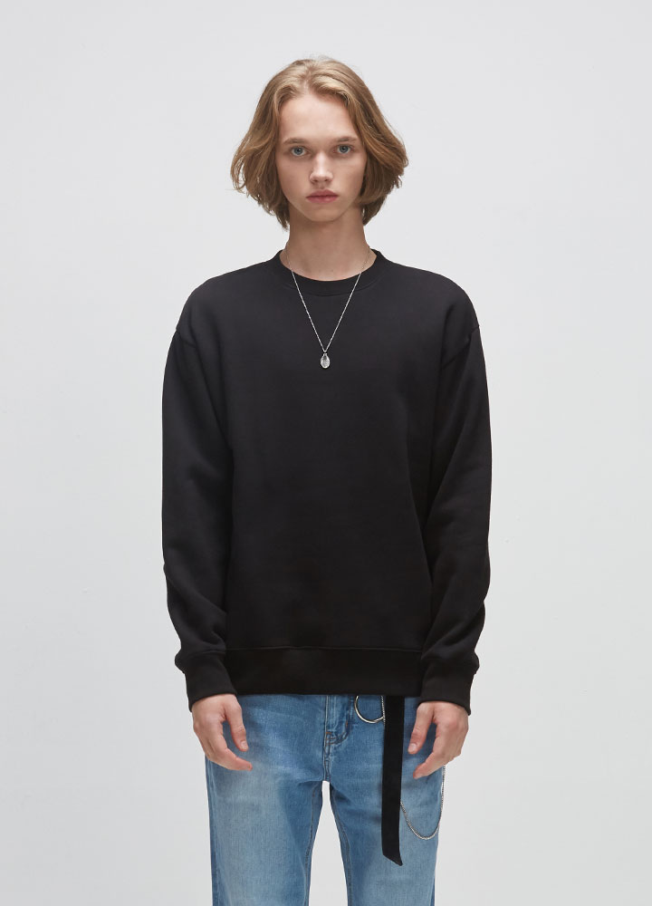 BASIC SWEATSHIRT[BLACK]