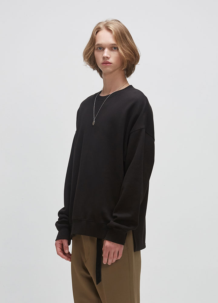 VENT OVERSIZED SWEATSHIRT[BLACK]