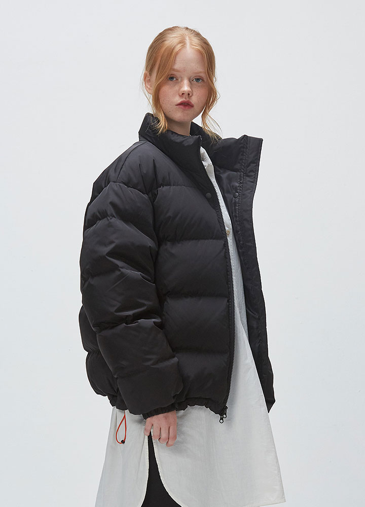 ICONIC PUFFY DOWN JACKET[BLACK]