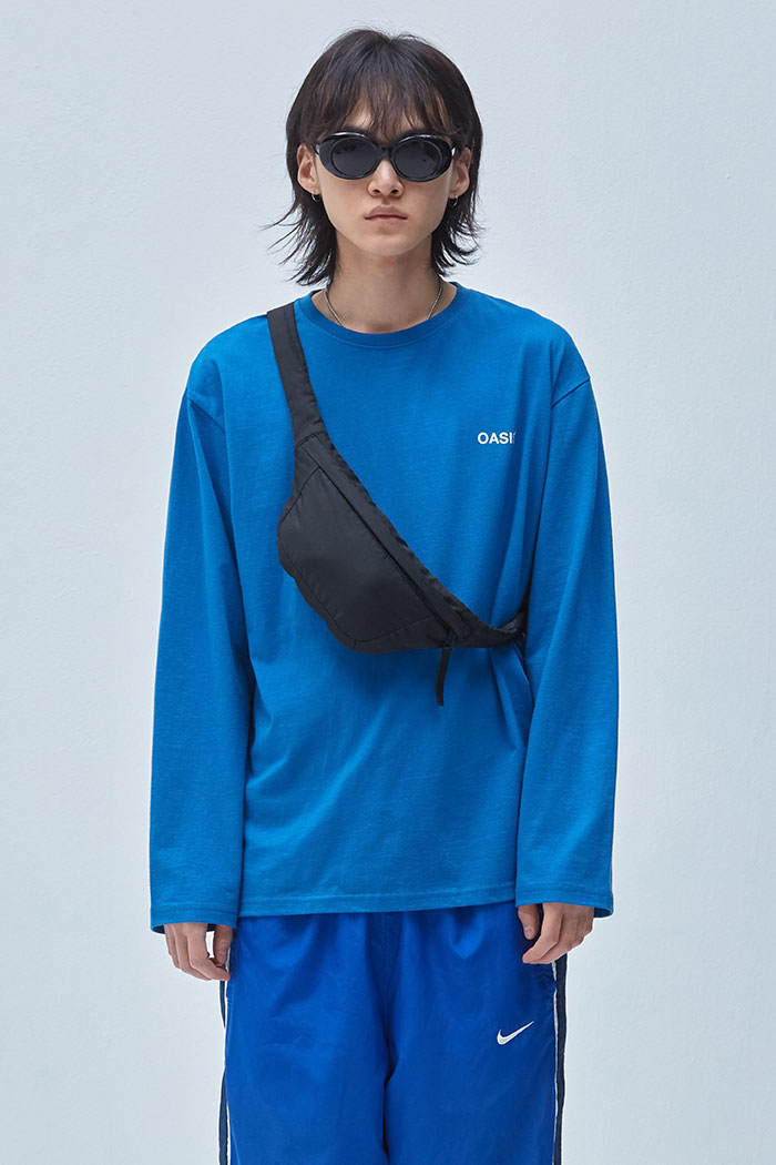 OASIS 3D LONG SLEEVE TSHIRT[BLUE]