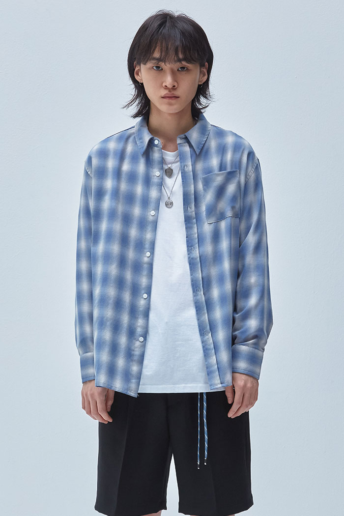 OASIS CHECK SHIRT[BLUE]