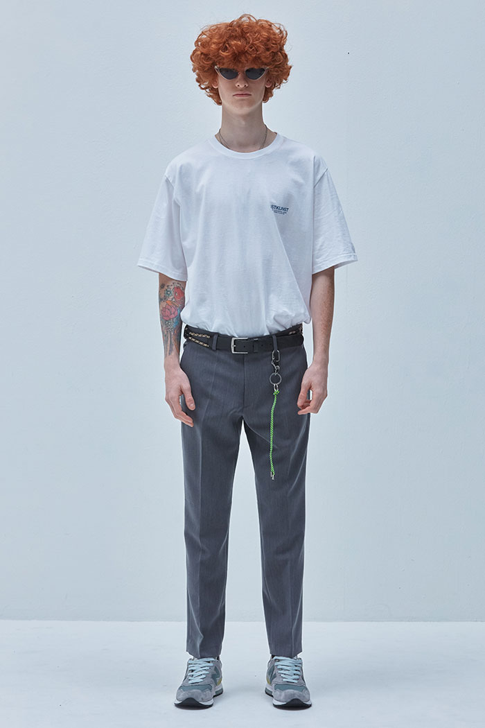 TAPERED SLACKS[GREY]