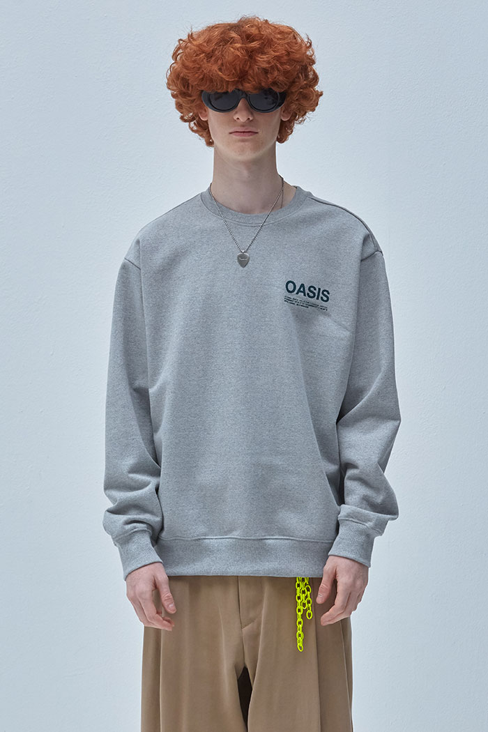 INFORMATION SWEATSHIRT[GREY]