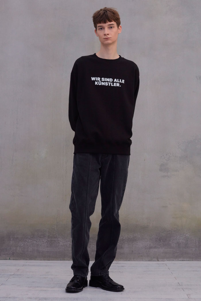 SLOGAN SWEATSHIRT[BLACK]