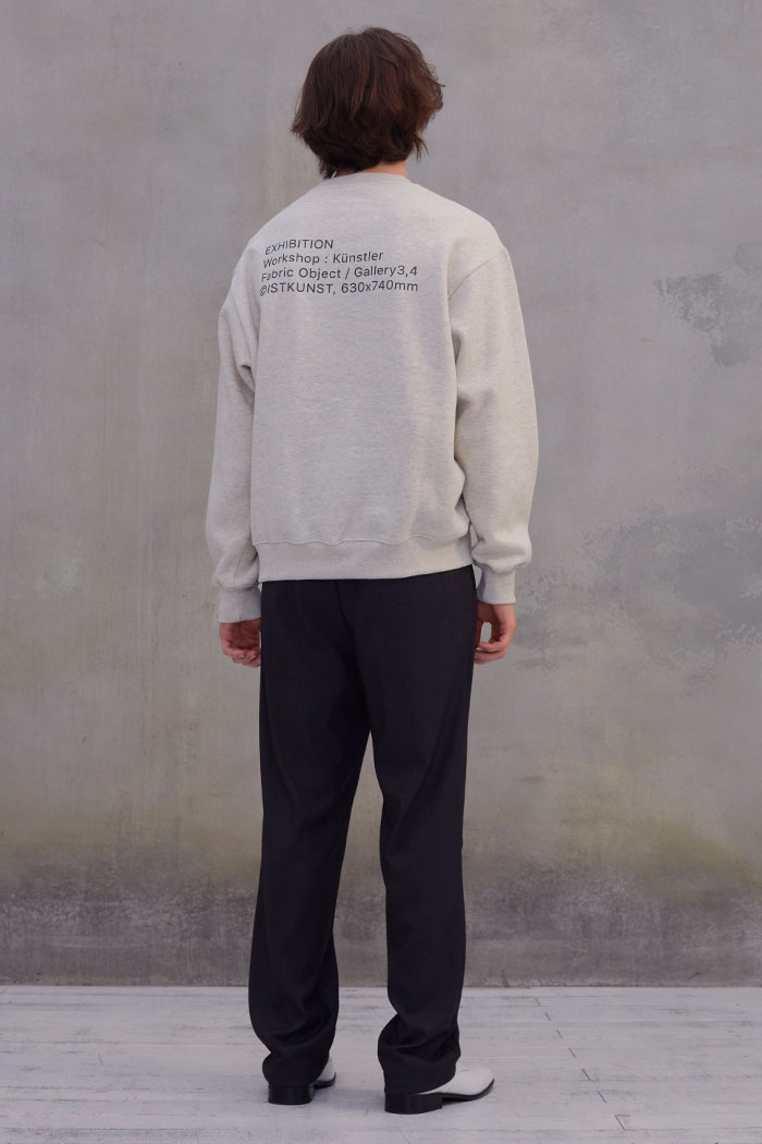 EXHIBITION SWEATSHIRT[OATMEAL]