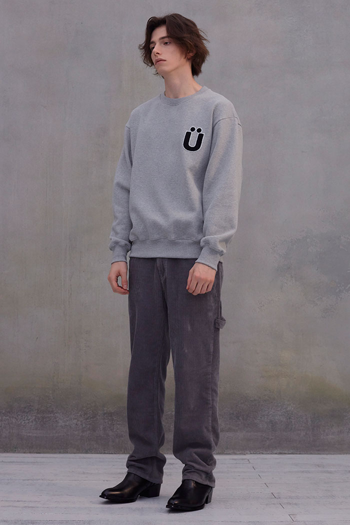 LOGO BOUCLE PATCH SWEATSHIRT[GREY]