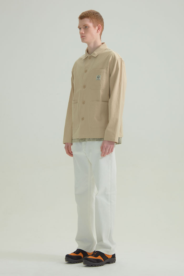 OVERDYED WORK JACKET[BEIGE]