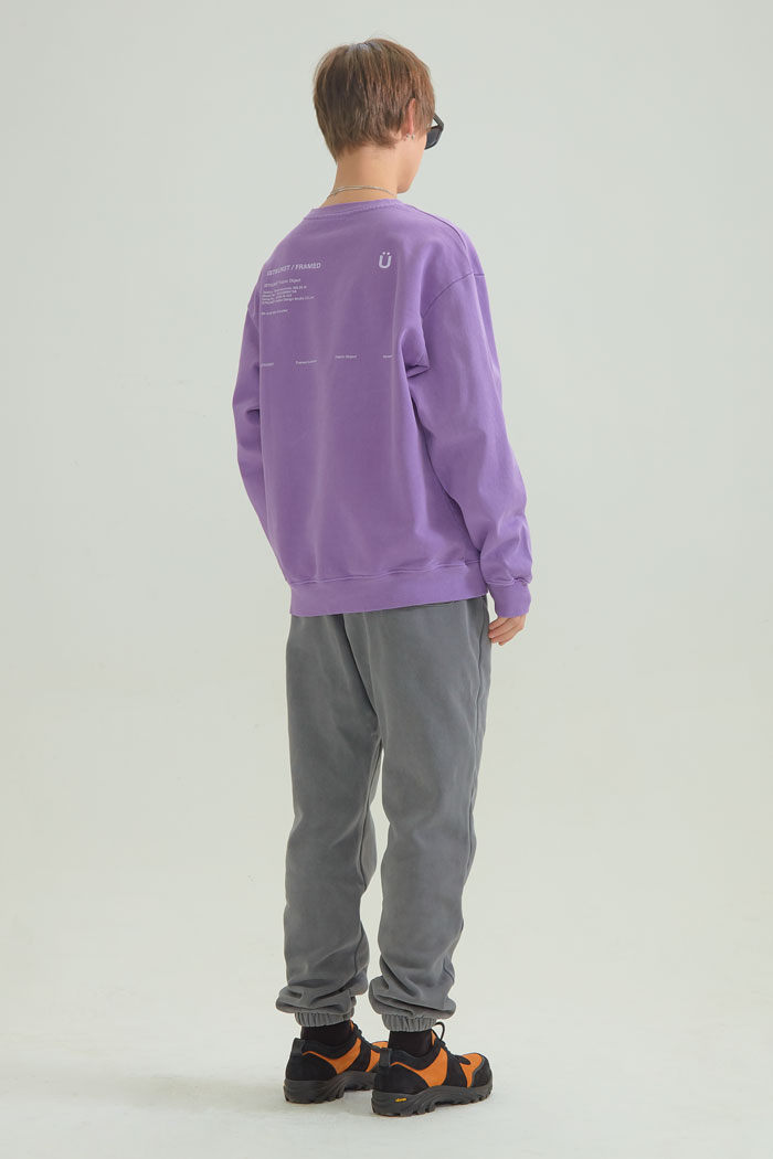 U LOGO PIGMENT SWEATSHIRTS[PURPLE]