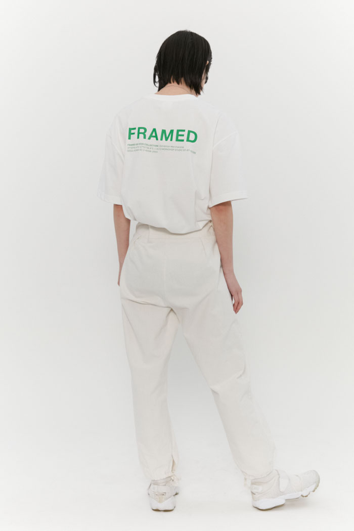 FRAMED LOGO TEE[WHITE]