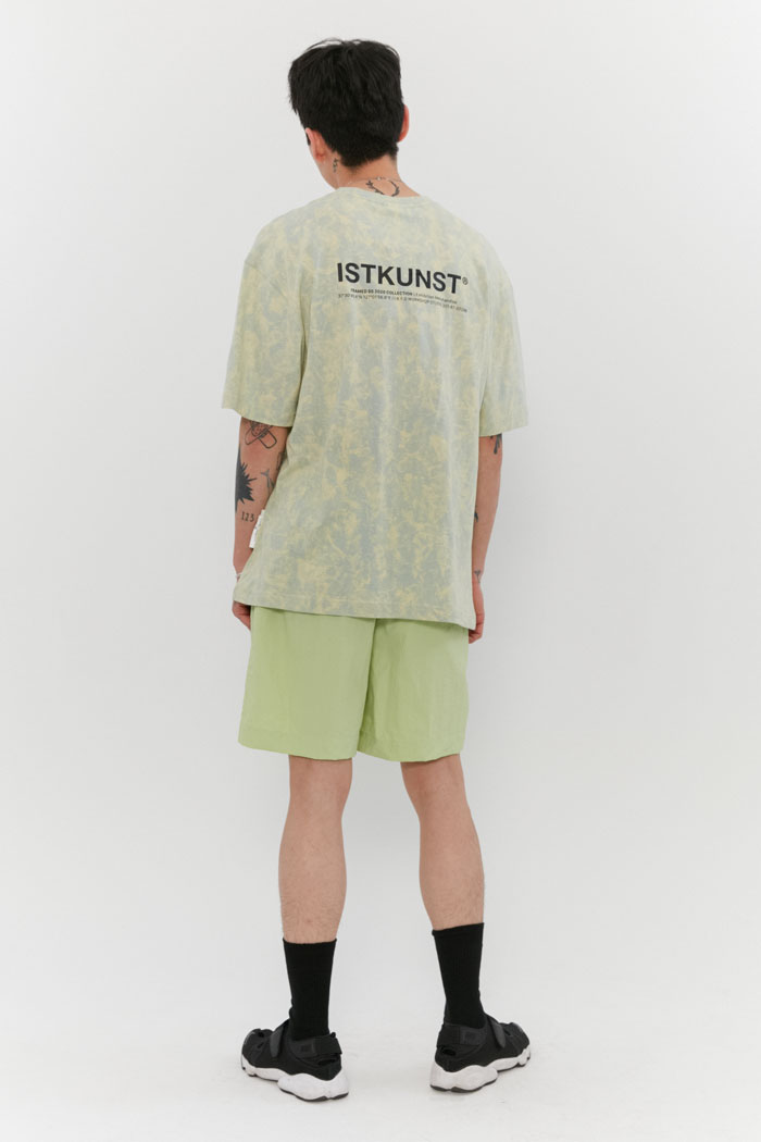 TIE DYED LOGO TEE[YELLOW]
