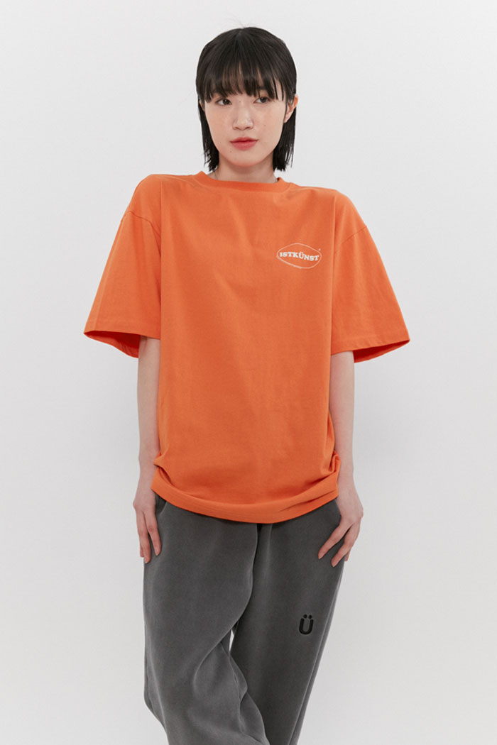 SMALL OVAL LOGO TEE[ORANGE]