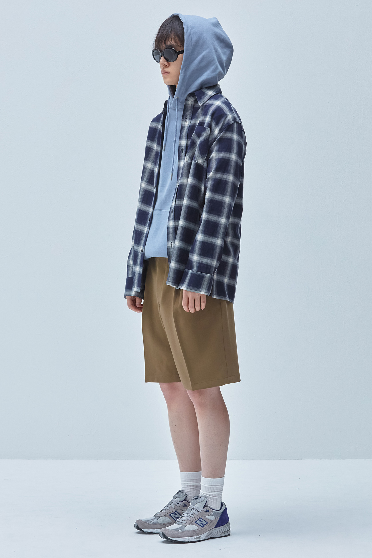 EVANS CHECK SHIRT[BLACK]