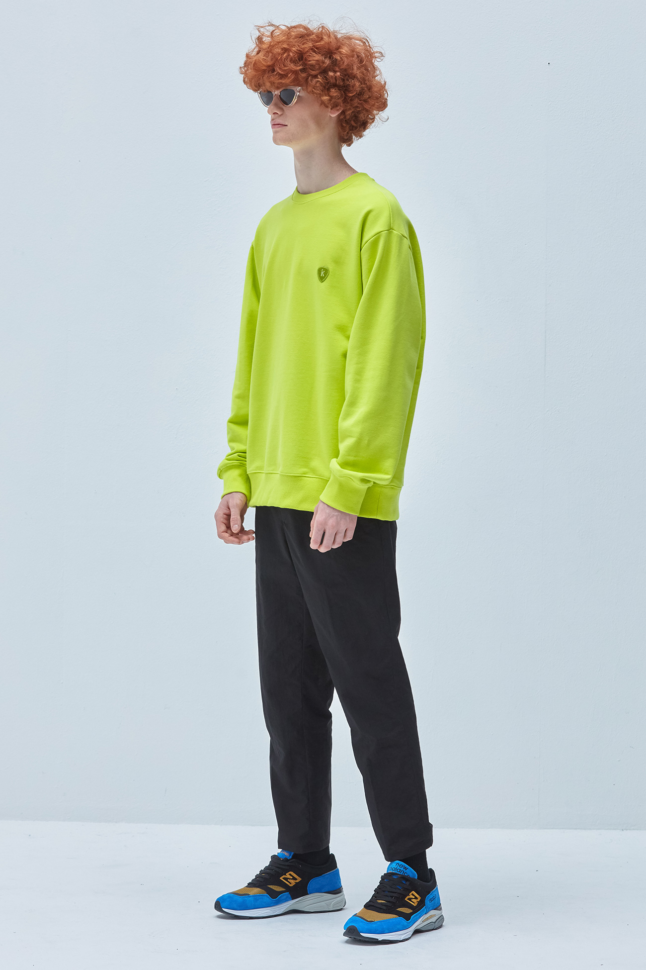 PICK WAPPEN SWEATSHIRT[LIME]
