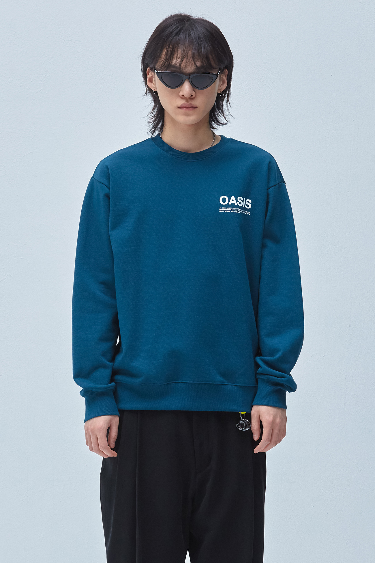 INFORMATION SWEATSHIRT[GREEN]