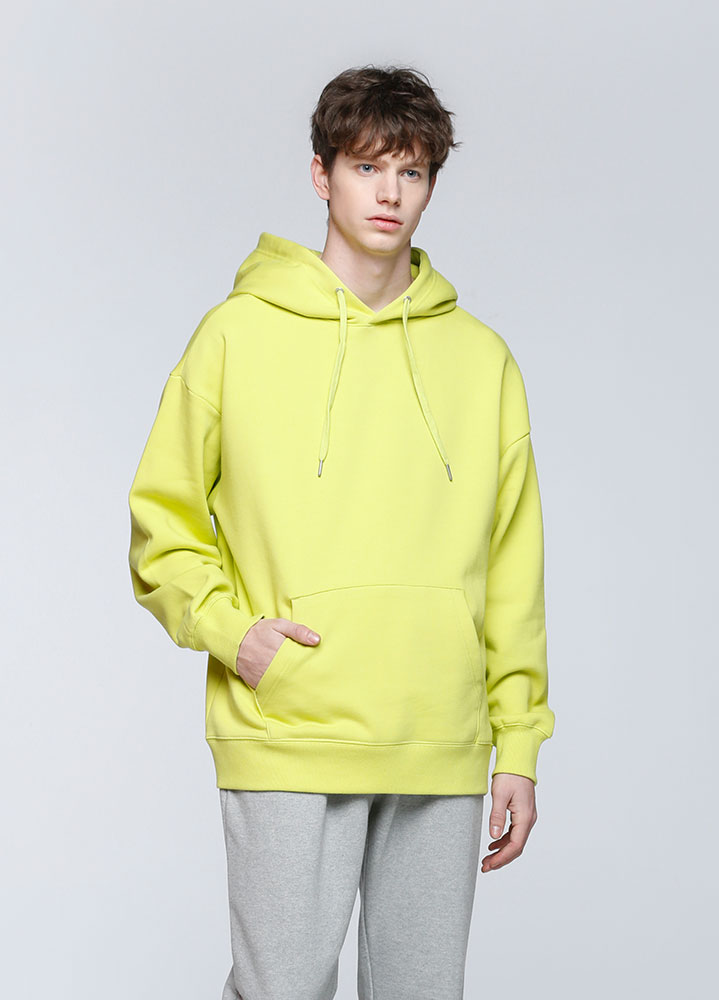 JACE OVERSIZED PULLOVER HOODIE[LIME]