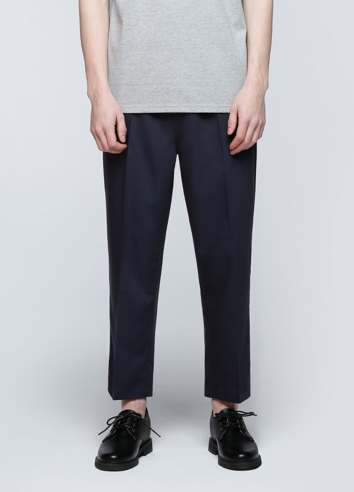 STANDARD CROP BANDING SLACKS[NAVY]