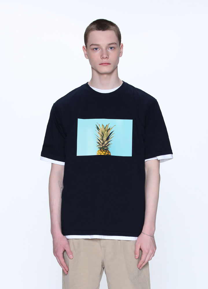 PINEAPPLE TSHIRT[NAVY]