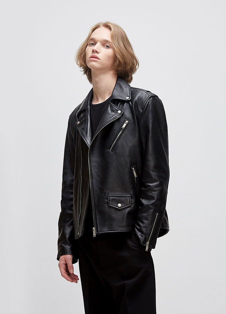 [LEATHER COLLECTION]CLASSIC LAMBSKIN RIDERS JACKET