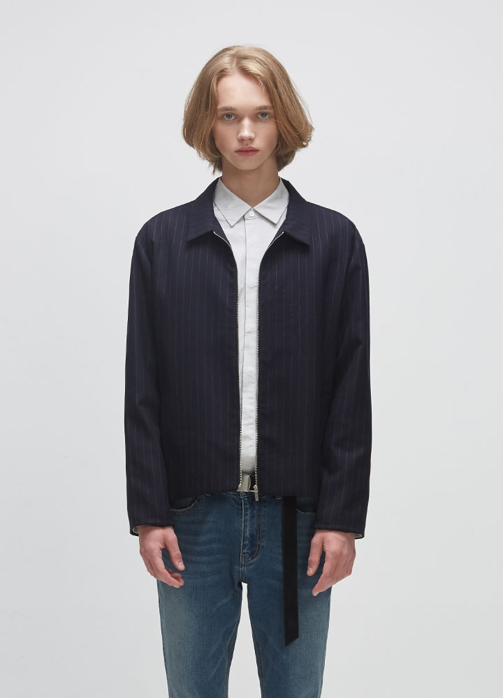 MINIMAL STRIPE JACKET[NAVY]