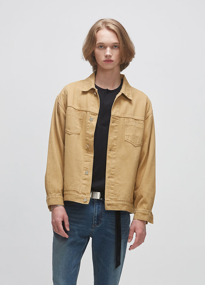 COTTON TWILL JACKET[BEIGE]