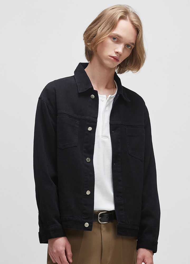 COTTON TWILL JACKET[BLACK]