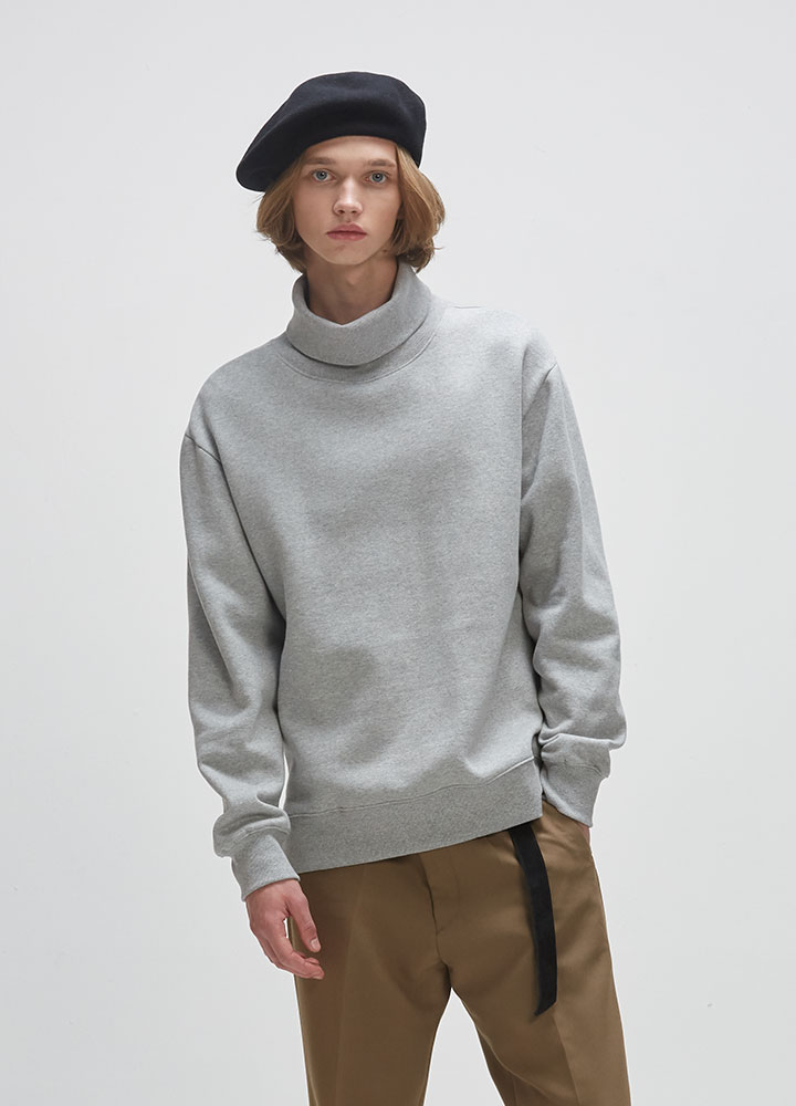 TURTLENECK SWEATSHIRT[GREY]