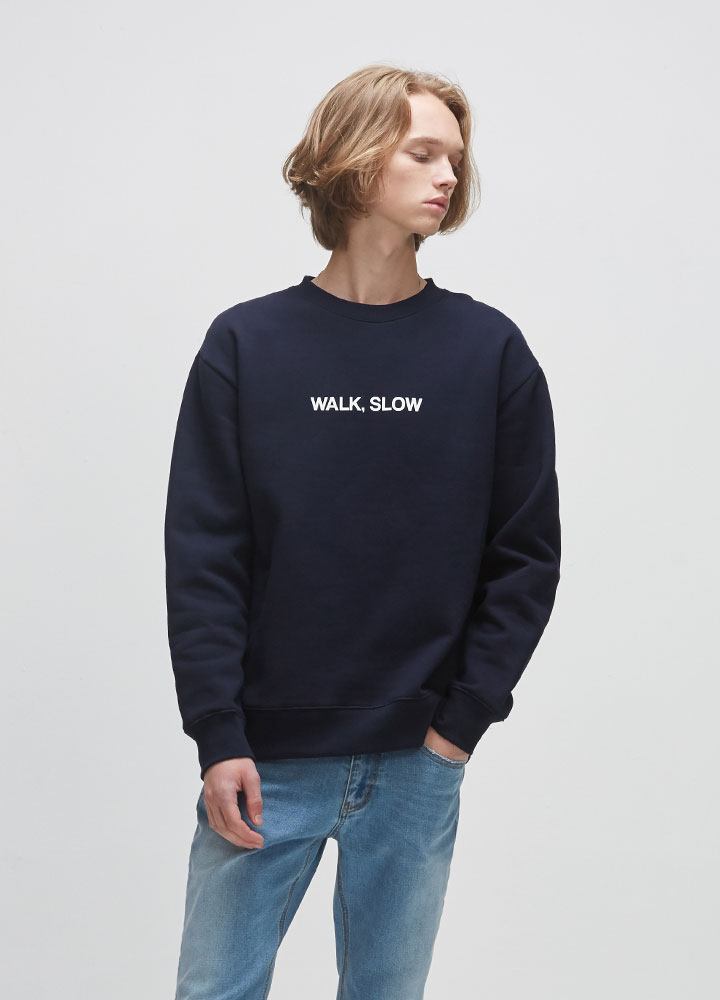 WALK SLOW SWEATSHIRT[NAVY]