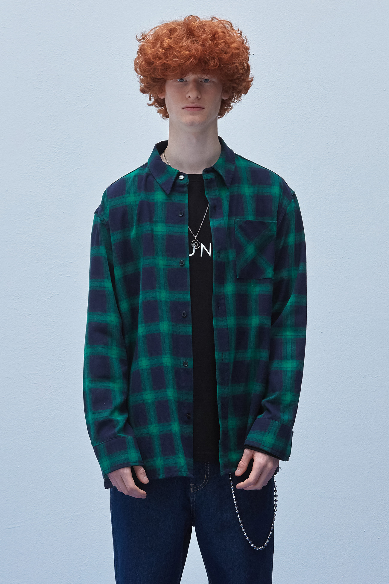 EVANS CHECK SHIRT[GREEN]