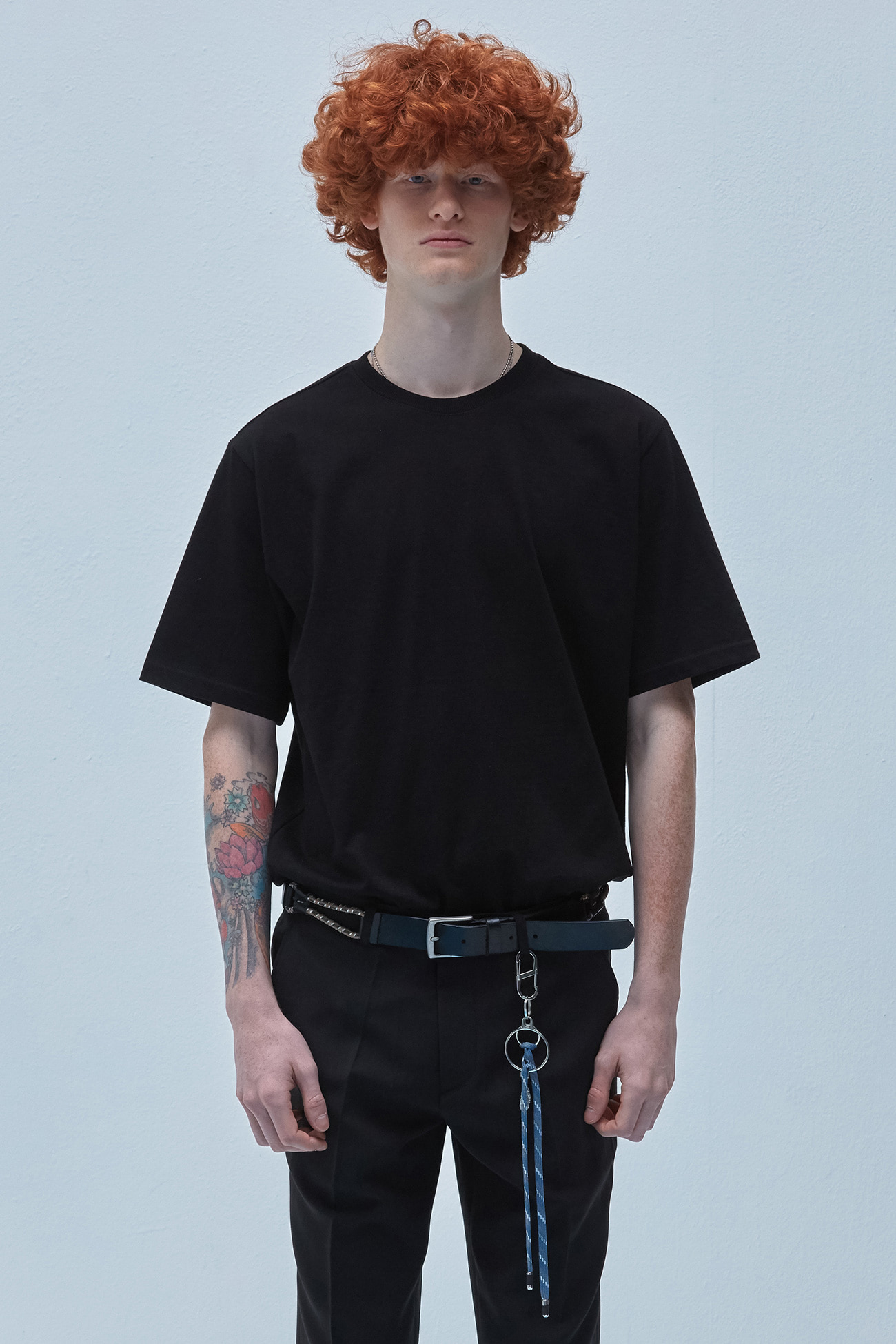 REGULAR FIT TSHIRT[BLACK]