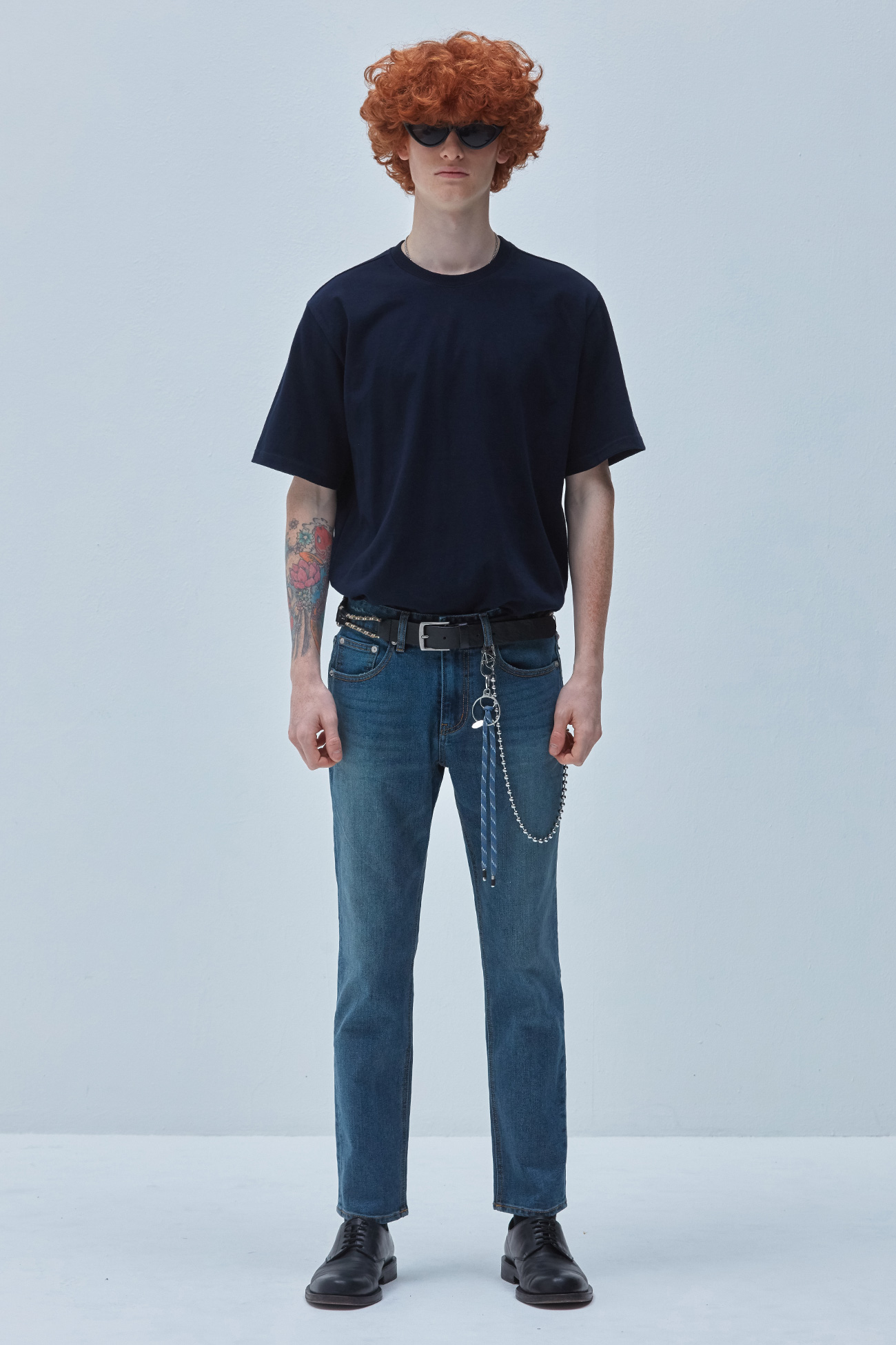 DEEP WASHING CROP JEANS[진청]