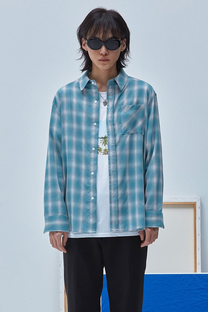 OASIS CHECK SHIRT[GREEN]