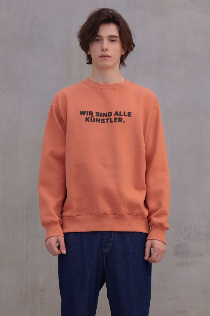 SLOGAN SWEATSHIRT[ORANGE]