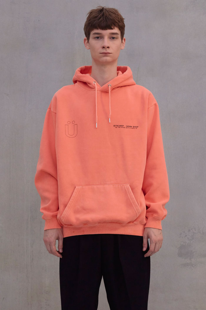WORKSHOP PIGMENT HOODIE[ORANGE]