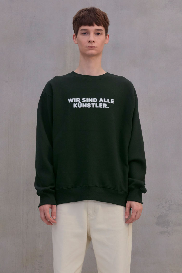 SLOGAN SWEATSHIRT[DEEP GREEN]