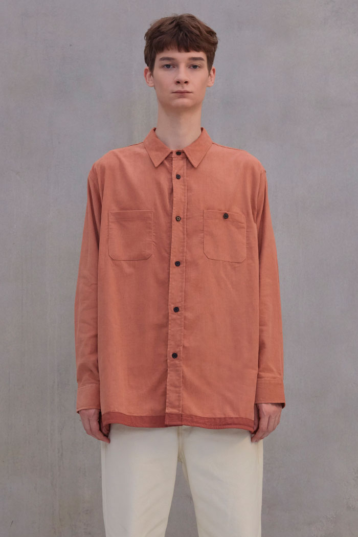 CORDUROY 2POCKET SHIRT[ORANGE]