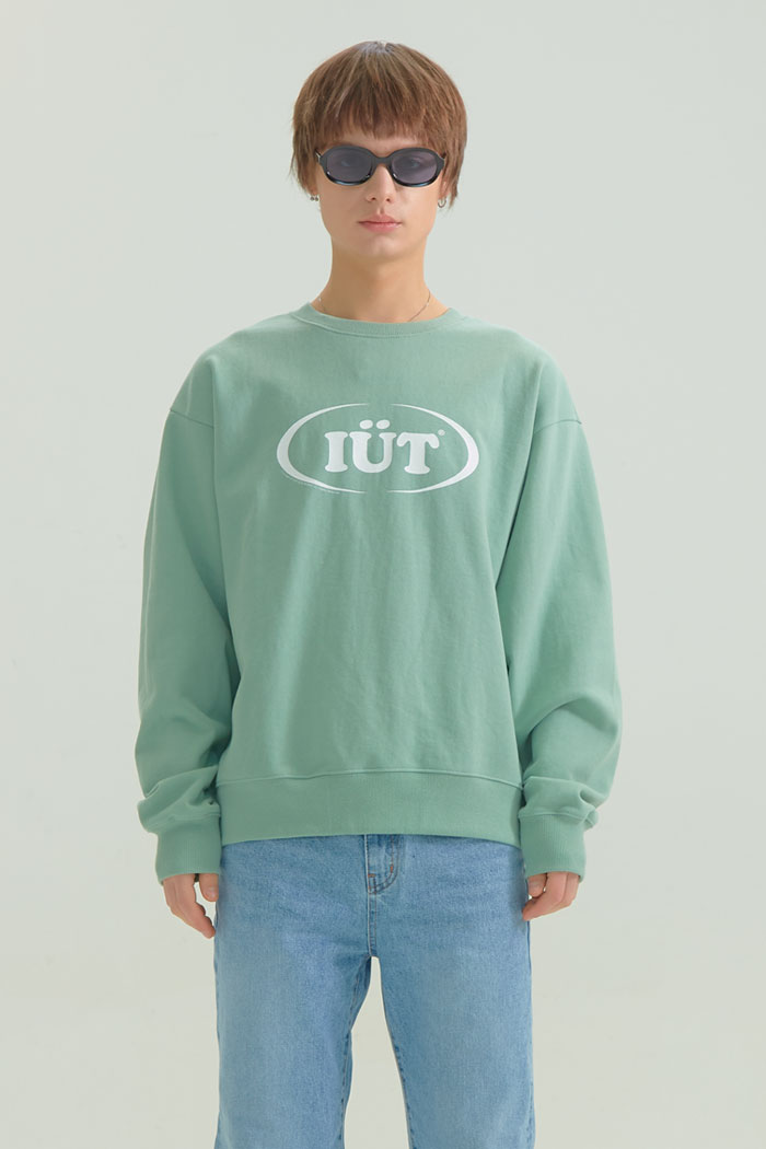 OVAL LOGO SWEATSHIRTS[GREEN]