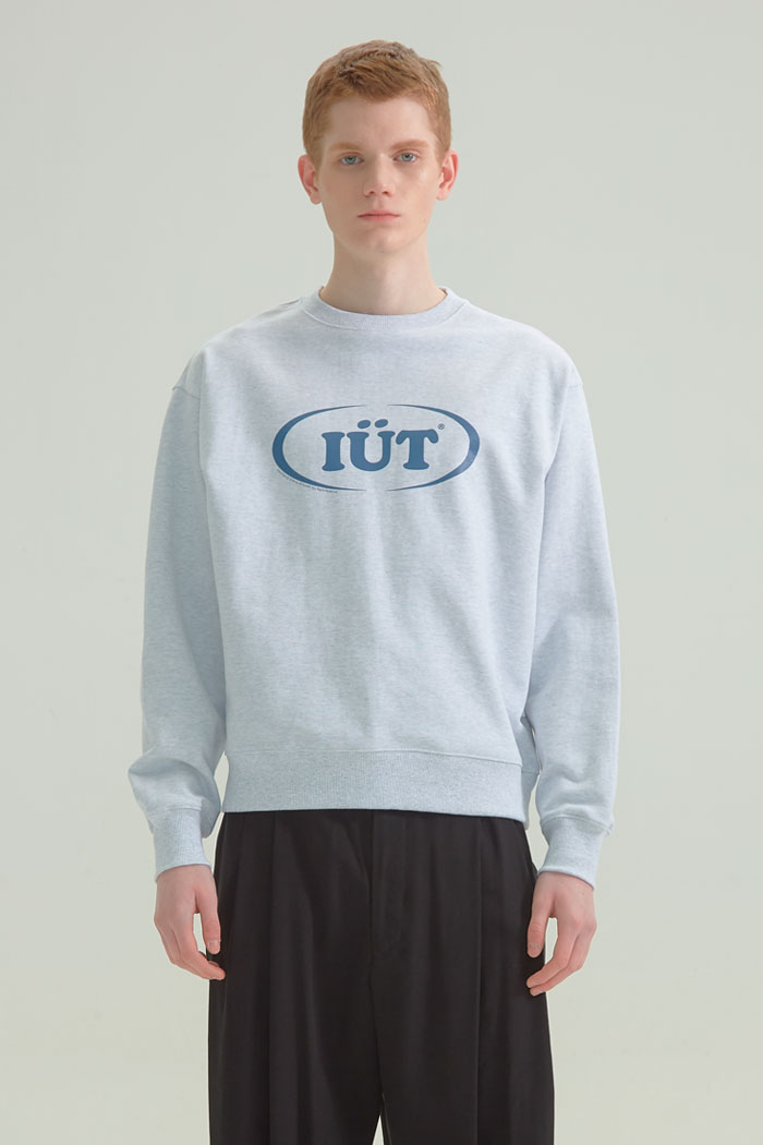 OVAL LOGO SWEATSHIRTS[GREY]