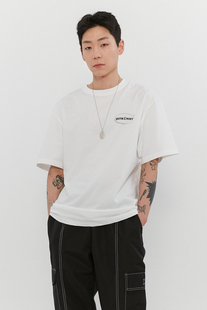 SMALL OVAL LOGO TEE[WHITE]