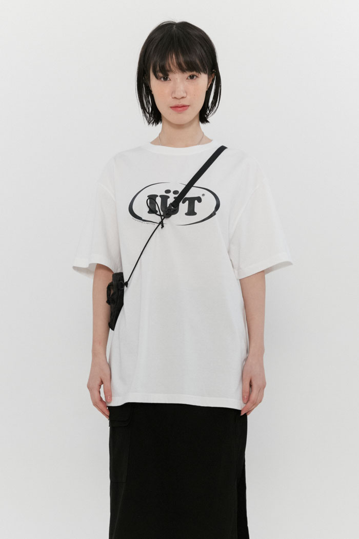 OVAL LOGO TEE[WHITE]