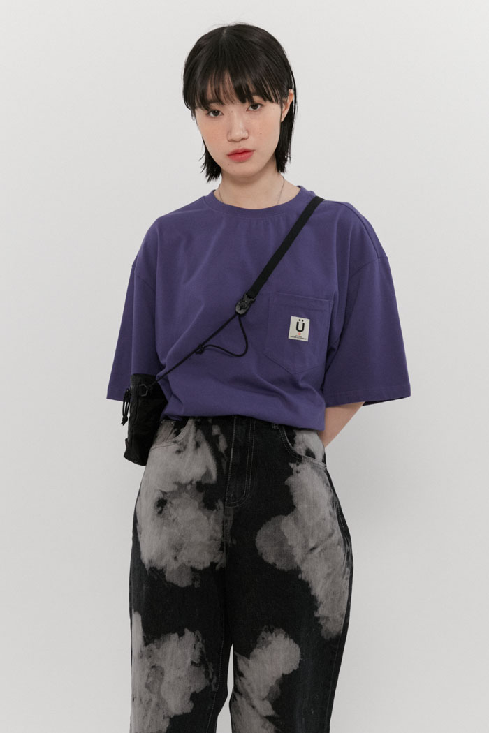 LABEL POCKET TEE[PURPLE]