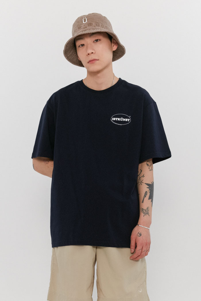 SMALL OVAL LOGO TEE[NAVY]