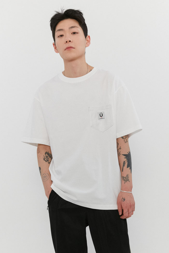 LABEL POCKET TEE[WHITE]