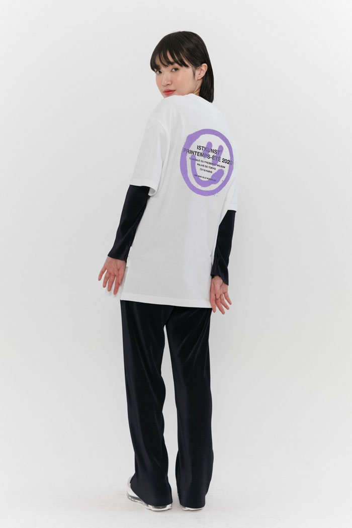 [7/17 예약발송]LOGO&SMILEY TEE[PURPLE]