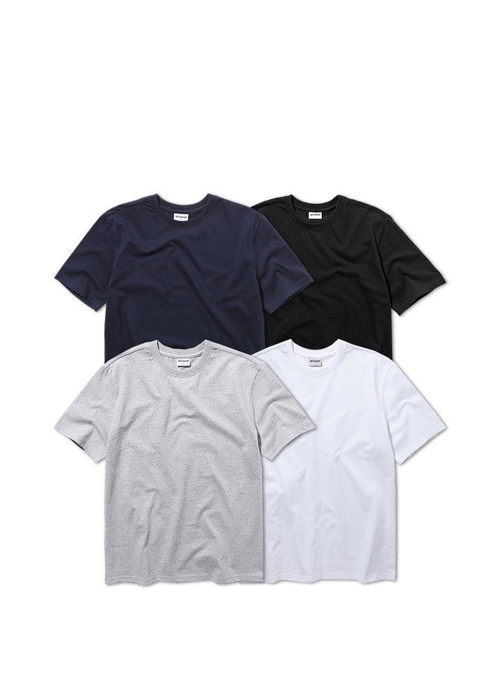 [ STANDARD 1+1 ]LONG REGULAR FIT SHORT TSHIRT[4 COLOR]
